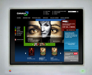 CANAL+ web design