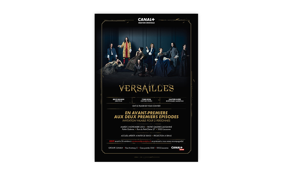 CANAL+ invitation for an avant premier